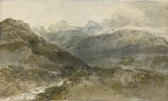 Joseph Mallord William Turner 'Mountain Study: A View in North Wales (?)', c.1799 © The British Museum