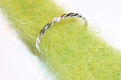 Kordel Ring Sterling-Silber Schmuck-Zart von TraumSchmuckWerkstatt auf DaWanda.com