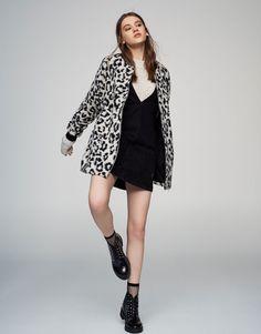 Cazadora bomber long fit animal print - Mid Season Sale - Mujer - PULL&BEAR México