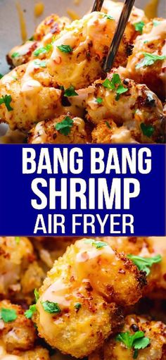 Bang Bang Shrimp Air Fryer – Bang Bang Shrimp recipe cooked in Air Fryer with a little bit of oil and served with an amazing bang bang shrimp sauce. Informations About Bang Bang Shrimp Air F Air Frier Recipes, Air Fryer Oven Recipes, Air Fryer Dinner Recipes, Recipes Dinner, Air Fryer Recipes Shrimp, Fish Recipe Air Fryer, Air Fried Shrimp Recipe, Air Fryer Recipes Appetizers, Seafood Recipes