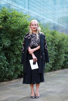 60 Inspiring Street-Style Snaps From LFW #refinery29  http://www.refinery29.com/london-fashion-week/street-style#slide11  A fancy topper is a fall essential. This embroidered coat floats our boat.