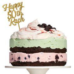 Spumoni Ice Cream Cake with Mascarpone Whipped Cream (a.k.a. The Rach) | Rachael Ray Every Day