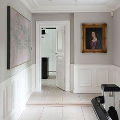 Flur Diele Wohnideen Möbel Dekoration Decoration Living Idea Interiors home corridor - Hellgrau getäfelten Flur