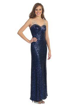 Fully Beaded V Neck Evening Gown Modern Long Prom Dress