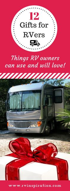 Wondering what to give as a Christmas, birthday, housewarming gift for someone who lives in or recently purchased a travel trailer or motorhome? It can be tough to find something affordable that RV owners need and want but don't already own, especially i Gifts For Rv Owners, Rv Gifts, Gifts For Campers, Rv Campers, Camper Trailers, Happy Campers, Camper Hacks, Camper Life, Camping Gifts