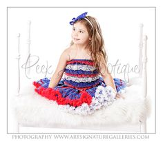 Red, White, and Blue - Patriotic Petti skirt by www.thepeekabootique.com