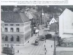 Småstrandgaten inn mot gamle Posthuset etter brannen (Y)  Fra boken: Bergen brenner av Stein Thowsen.