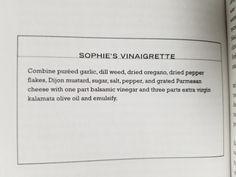 24. Sophie's Vinaigrette