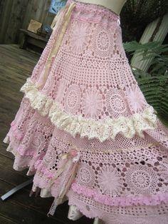 Vintage Kitty vintage crochet romantic full by sistersroseandruby