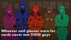 Austria, Sweden, America, Canada and Estonia. Hetalia has made me have a thing for men with glasses...