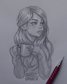 Amazing art drawings people awesome Ideas for 2019 Girl Drawing Sketches, Girly Drawings, Cool Art Drawings, Pencil Art Drawings, Beautiful Drawings, Easy Drawings, Drawing Ideas, Beautiful Girl Drawing, Sketches Of Love