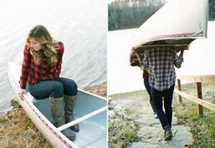 fall engagement, canoe engagement, Emily Steffen, flannel engagement, wisconsin wedding, WIbride, wisconsin engagement, fall