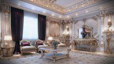 Classic Men Majlis at VWArtclub Interior Design Boards, Interior Design Companies, Decor Interior Design, Classic Living Room, Classic House, Palaces, Villa, Classic Interior, Modern Interior
