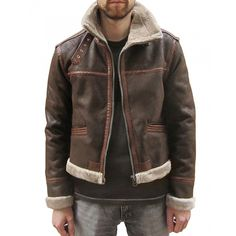 Resident Evil 4 Leon Kennedy Brown Furry Leather Jacket Item Specifications…