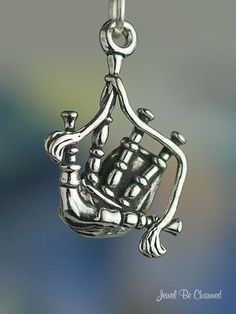 Bagpipes Charm Sterling Silver Scottish Scotland Musical Instrument.by jewelbecharmed via Etsy.