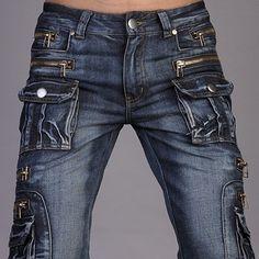 Jeansian Mens Designer Jeans Pants Denim Stylish Pocket Zip W30 32 ... Love  Jeans 01ce0ef31f