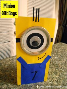 Running away? I'll help you pack.: Despicable Me Birthday ... Minion Gift Bags