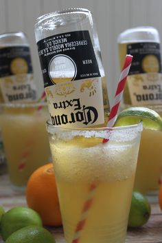 AWESOME! Frosty Mexican Bulldog Margarita...a favorite for Super Bowl parties! Video recipe by Jerry James Stone