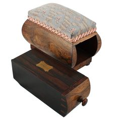 This unusual George IV antique pin cushion box is available to buy online now. Needle Cushion, Antique Vanity, Antique Boxes, Sewing Accessories, Storage Boxes, Pin Cushions, Georgian, Decorative Boxes, Victorian