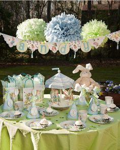 Peter Rabbit ~ perfect theme for a baby shower!