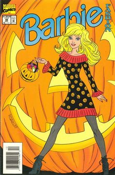 BARBIE FASHION (MARVEL) (Series Began Issue NEWSSTAND comics in Near Mint condition. Published by Marvel. Near Mint - Nearly perfect with only minor imperfections allowed. Barbie 80s, Barbie World, Vintage Barbie, Halloween Painting, Halloween Books, Vintage Halloween, Halloween Cards, Vintage Cartoons, Vintage Comics