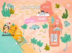 Jennifer Reynolds - Map of Los Angeles for The Travel Manifesto