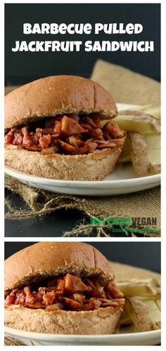 Barbecued Pulled Jackfruit Sandwich | The No Fuss Vegan  (This recipe is #vegan and #glutenfreen if you use GF bread) I loved cooking this recipe it was hearty, filling, and delicious!  Plus it even included a recipe for BBQ sauce from scratch