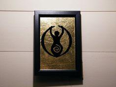 Goddess Frame - Glass Gilding - Verre Eglomise