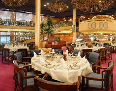 Dinning on ms Zaandam, a Holland America Line cruise ship.