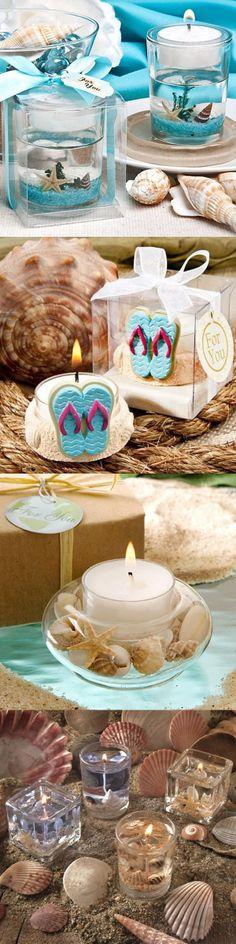 beach wedding candles decor