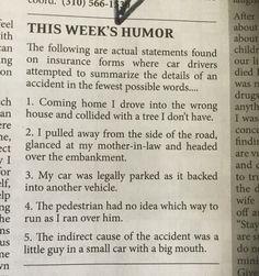 So funny my church bulletin has a humor column !!