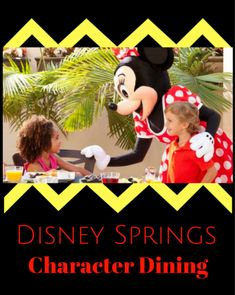 The Disney Springs Character Dining choices include 2 different breakfasts on Sunday and one on Tuesday, Thursday and Saturday. Disney World Vacation Planning, Disneyland Vacation, Walt Disney World Vacations, Florida Vacation, Disney Character Breakfast, Disney Character Dining, Dining At Disney World, Disney Dining Plan, Disney World Tips And Tricks