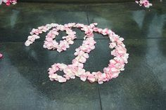 Rose Petal Monogram | Wedding Dish