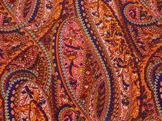 Paisley reds and orange print
