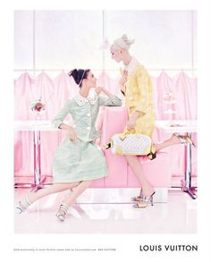 I love these new Louis Vuitton Candy-Coated Spring Ads...They are so vintage...