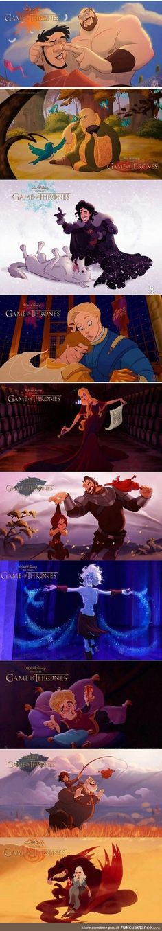 If Game Of Thrones went Disney