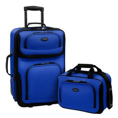 U.S. Traveler RIO 2-piece Expandable Carry-on Luggage Set - Overstock™ Shopping - Great Deals on US Traveler Two-piece Sets