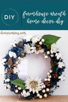 Farmhouse Wreath DIY Decorate A Grapevine Wreath Farmhouse Style – The best ideas Diy Wreath, Grapevine Wreath, Wreath Ideas, Wreath Making, How To Make Wreaths, Crafts To Make, Diy Crafts, Cross Wreath, Red Geraniums