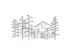 Continuous line drawing of Mt. Hood in Portland, OR Mountain Drawing Simple, Mountain Sketch, Line Drawing Tattoos, Line Tattoos, Drawing Drawing, Outline Drawings, Art Drawings, Outline Art, Continous Line Drawing