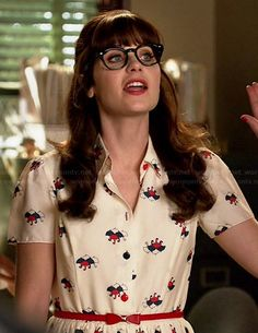 S umbrella print dress on new girl new girl outfits, trendy outfi Zooey Deschanel Style, Zoey Deschanel, Jessica Day, New Girl Style, Love Her Style, New Girl Outfits, Cute Outfits, Fashion Tv, Girl Fashion