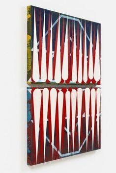 Diese Ausstellung startet morgen, 08.09., ab 18 Uhr mit einer Vernissage: Clara Brörmann | pursuit of happiness | SCHWARZ CONTEMPORARY | 09.09.-22.10.2016 by bis 22.10. |SCHWARZ CONTEMPORARY zeigt ab dem 9. September 2016 die Ausstellungpursuit of happiness der Künstlerin Clara Brörmann. Aus der monochrom blauen Bildfläche in Wurfzabel 1 sind zahlreiche Farbstreifen herausgeschnitten, so dass der Blick auf die grobe Leinwand und auf ein scheinbar  ART at Berlin A