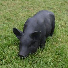 Cast Iron Standing Sow/Pig Statue in Black Cement Statues, Beautiful Farm, Outdoor Sculpture, Hippopotamus, New Love, Pigs, Cast Iron, Cow, Sculptures