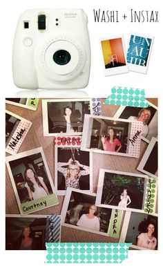 Washi Tape + Instax Pictures go so great together! For more washi projects and inspiration visit thewashiblog.com | #washi #washitape