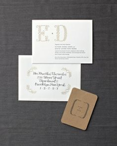 Love this unique #monogram invitation