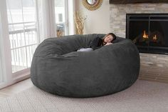 Chill Bag Huge Oversized Memory Foam Bean Bag Chair Soft Micro Suede Washable Co & Pin by Clara Raelita on Home Ideas | Pinterest | Bean bag chair ...