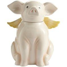 Flying Pig Cookie Jar