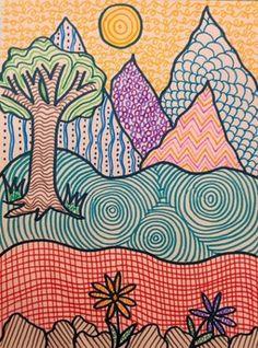 Art Drawings For Kids, Drawing For Kids, Art For Kids, Children Drawing, Easy Drawings, School Art Projects, Art School, Simple Art Projects, Line Art Projects