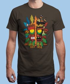 """Aku Uka"" is today's £9/€11/$12 tee for 24 hours only on www.Qwertee.com Pin this for a chance to win a FREE TEE this weekend. Follow us on pinterest.com/qwertee for a second! Thanks:)"