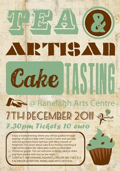 Tea and Cake Tasting Poster Cake Tasting, Home Recipes, Zine, Graphic Design, Tea, Blog, Poster, Blogging, Teas