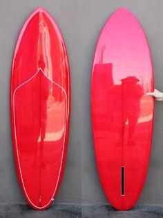 5'10 Mitsven Winged Pin Single Fin - graaaadient